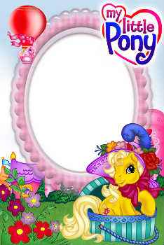 An inscription on the frame: My little Pony