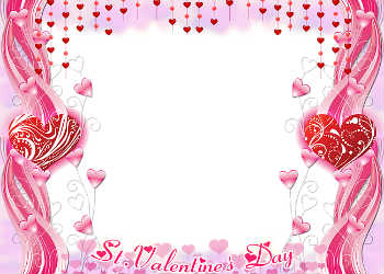 An inscription on the frame: Happy Valentines Day!